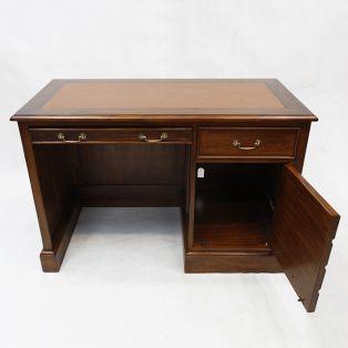 Письменный стол из массива дерева однотумбовый  BPD 120 dark brown