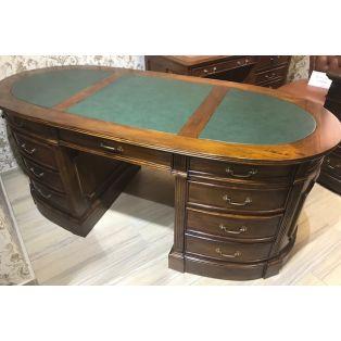 Письменный стол двухтумбовый овальный Partner desk BPD 150 green