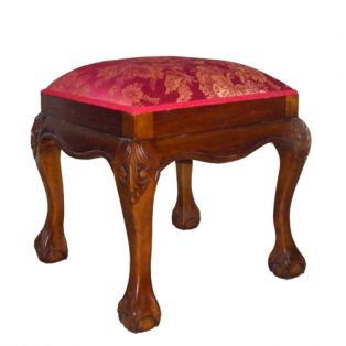Пуфик PAS 09 из красного дерева цвет итальянский орех