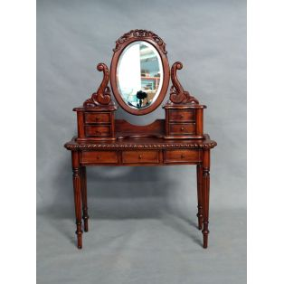 Туалетный стол с зеркалом BPD 75 из красного дерева
