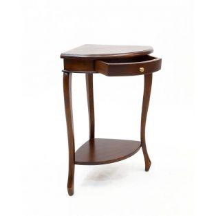 Столик-консоль угловой из красного дерева